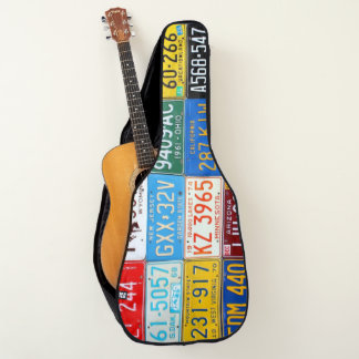 License Plates Our Colorful History Guitar Case