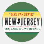 License Plates Round Stickers
