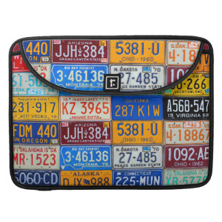 License Plates USA - Our Colorful History Sleeve For MacBooks