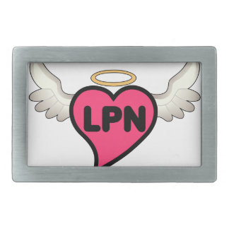 License Practical Nurse Rectangular Belt Buckle