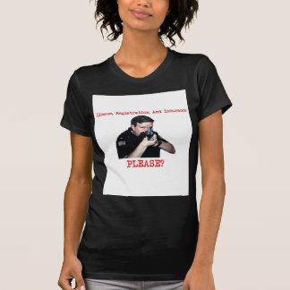 License Registration Dark Shirt Female