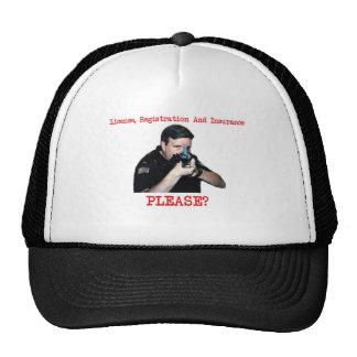 License Registration Hat