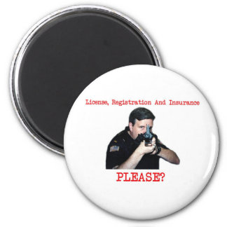 License Registration Round Magnet