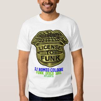 """License To Funk"" Badge T- Shirt"