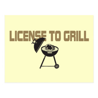 License To Grill Postcard