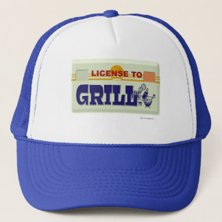 License To Grill Trucker Hat