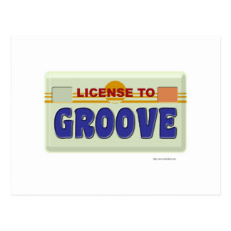 License To Groove Postcard