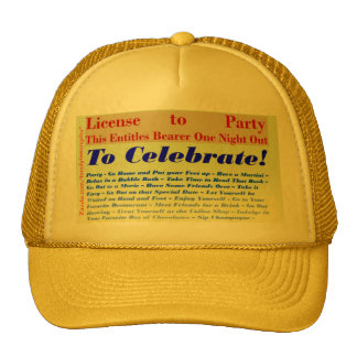 License to Party Trucker Hat