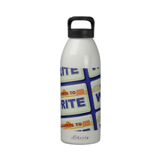 License to Write Water Bottle