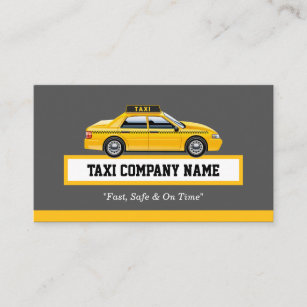 Yellow Cab Taxi Business Cards | Zazzle