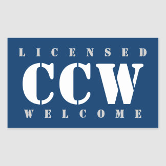 Licensed CCW Welcome Rectangular Sticker