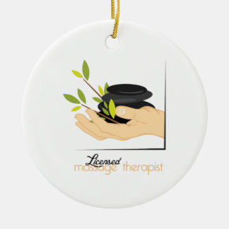 Licensed Massage Therapist Ceramic Ornament