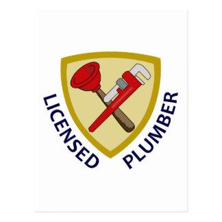 Licensed Plumber Postcard