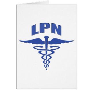 Licensed Practical Nurse Caduceus Card
