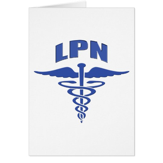 Licensed Practical Nurse Caduceus Card