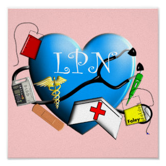Licensed Practical Nurse Canvas ARt Print