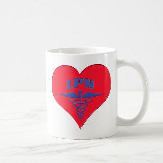 Licensed Practical Nurse LPN Caduceus Heart Coffee Mug