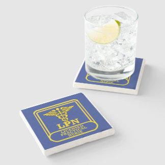 Licensed Practical Nurse Stone Beverage Coaster