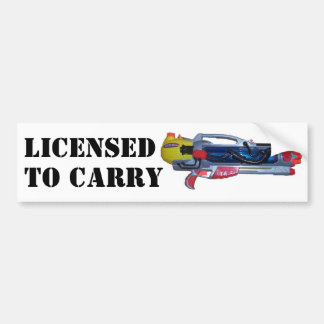 Licensed to Carry Bumper Sticker