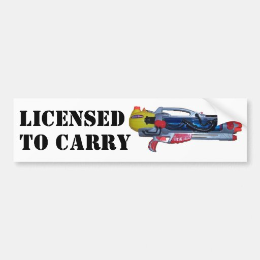 Licensed to Carry Car Bumper Sticker