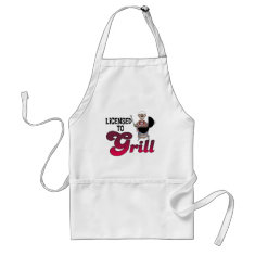 Licensed To Grill Funny BBQ/Barbecue Apron
