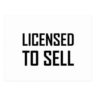 Licensed To Sell Postcard