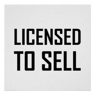 Licensed To Sell Poster