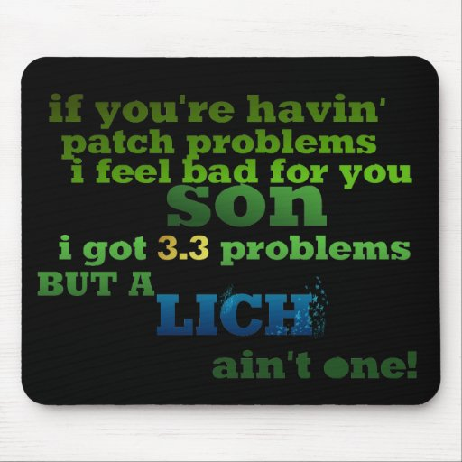 Lich ain't one mouse pad