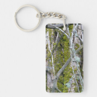 Lichen, Bark, and Branches Keychain
