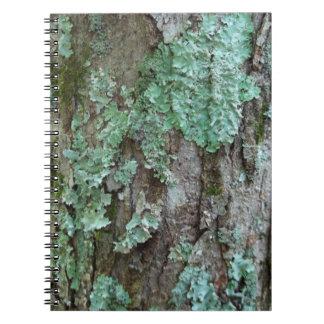 Lichen Bark Spiral Notebook