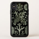 "Lichen by Ernst Haeckel, Vintage Nature Plants OtterBox Symmetry iPhone X Case<br><div class=""desc"">Add a beautiful design to your phone by choosing a custom Otter Box case! Vintage illustration botany nature design by Ernst Haeckel featuring a black and white design with a variety of lichen. Lichen is a plant that often forms in a low crustlike, leaf shape or branching growth, living on...</div>"