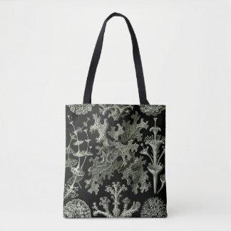 Lichen by Ernst Haeckel, Vintage Nature Plants Tote Bag
