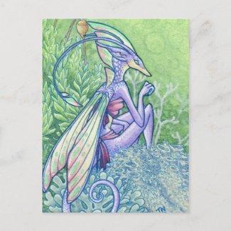 Lichen fairy postcard postcard