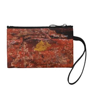 Lichen in the Desert; Customizable Change Purse
