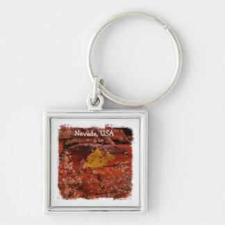 Lichen in the Desert; Nevada Souvenir Keychain