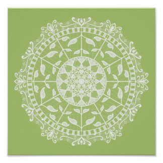 Lichen Mandala Poster