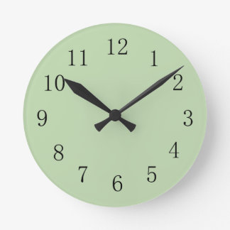 Lichen Moss Green Round (Medium) Wall Clock