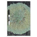 Lichen Mossy Circle Dry-Erase Whiteboard