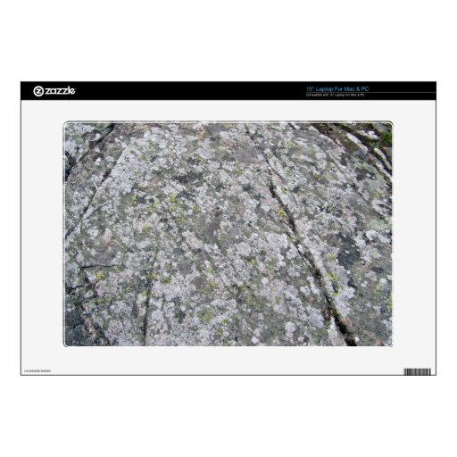 """Lichens on Huge Rock Texture Decals For 15"""" Laptops"""