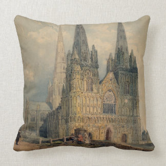 Lichfield Cathedral, Staffordshire, 1794 (w/c over Throw Pillows