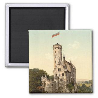 Lichtenstein Castle Postcard 2 Inch Square Magnet