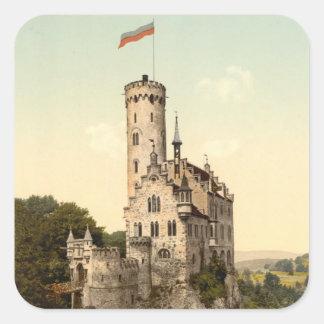 Lichtenstein Castle Postcard Square Sticker