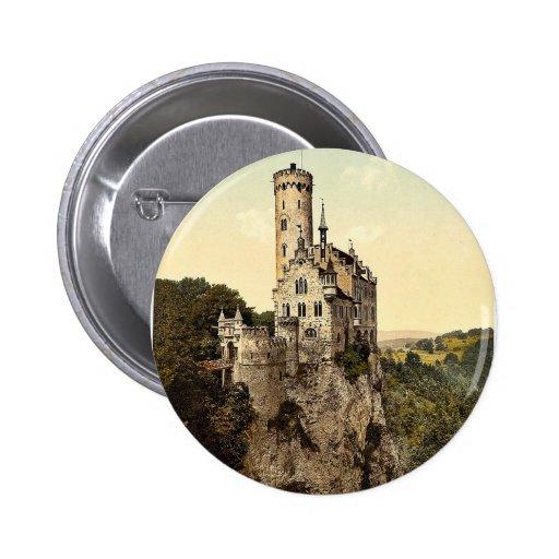 Lichtenstein Castle, Wurtemburg, Germany magnifice Button