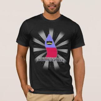 Lichtenstein Flag Map 2.0 T-Shirt