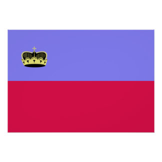 Lichtenstein Flag Poster