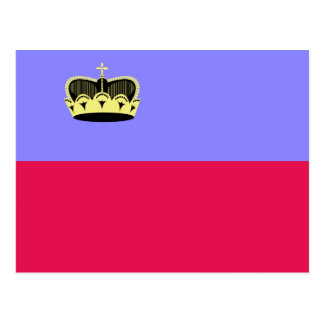 Lichtenstein High quality Flag Postcard