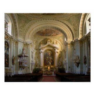 Lichtental Church Vienna Austria Poster