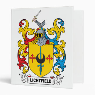 Lichtfield Family Crest 3 Ring Binders