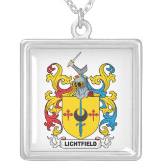Lichtfield Family Crest Square Pendant Necklace