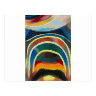 Lichtkreise (Kosmischer Regenbogen) by Otto Freund Postcard